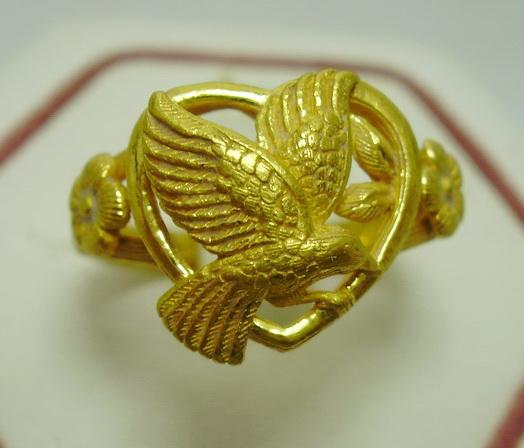 เพชรมรกต: [มือสอง] แหวนงู ทอง เก่า ทับทิม มรกต เพชรซีก งานเก่า นน.9